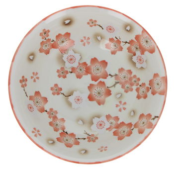 "Bowl for ramen noodles with  ""Ume"" - Red"