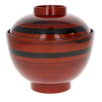 """Bowl and lid for miso soup """"Ligne"""""""