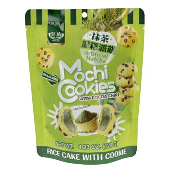 Cocoa chips cookies filled with matcha mochi 120g