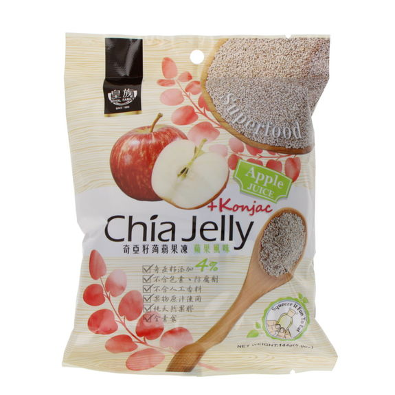 Chia seeds and konjac jelly - Apple flavor 144g