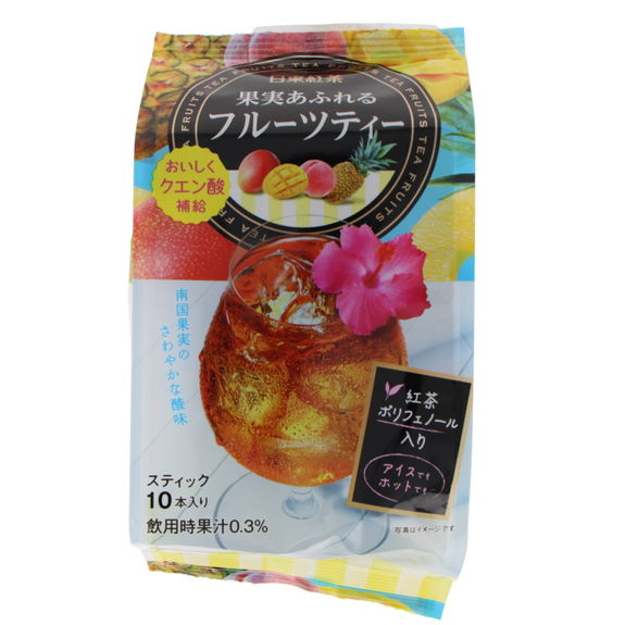 Instant tea from Japan - Fruits cocktail (10sticks) 85g