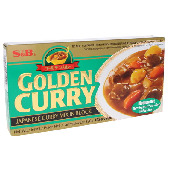 Golden curry sauce Medium Hot 220g (12 servings)