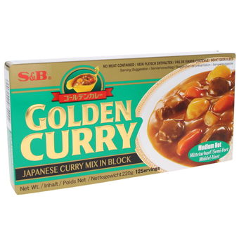 Curry japonais Golden Curry moyen 220g (12 portions)