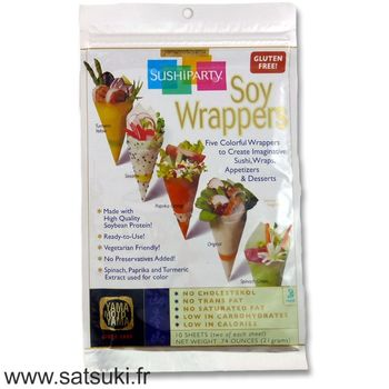 Soy wrapper x10 5 colors different for temaki sushi