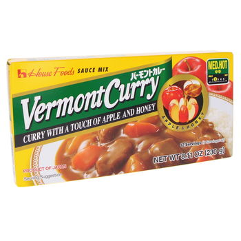 Curry japonais Vermont moyen mi-fort 230g (12 portions)