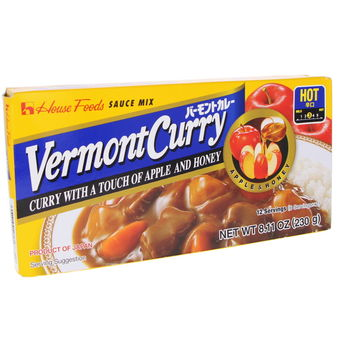 Japanese curry Vermont curry Hot  230g (12 servings)