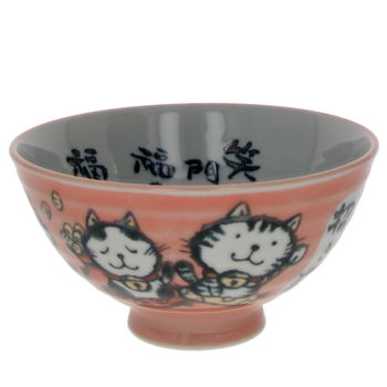 "Bowl ""lucky cat"" pink"