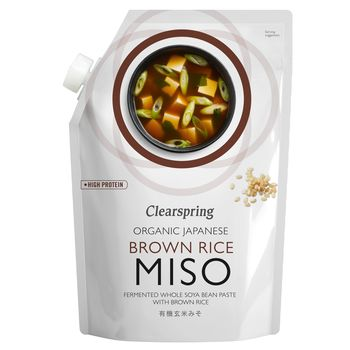 Clearspring organic unspasteurised brown rice miso 300g pouch