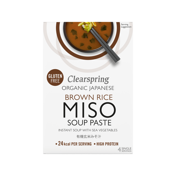 Organic Instant Brown Rice Miso Soup Paste x4