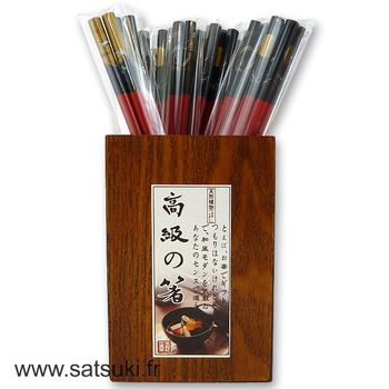 Chopsticks black & red - store only