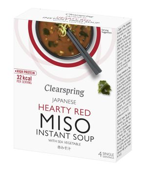Instant Miso Soup - Hearty Red with Sea Vegetable x4