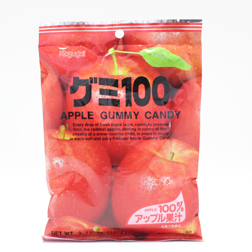 Apple gummy candy 107g Kasugai