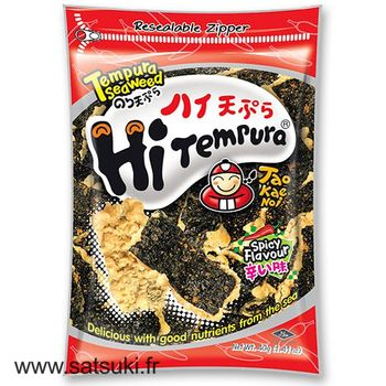 Nori and tempura spicy snack 40g Taokaenoi