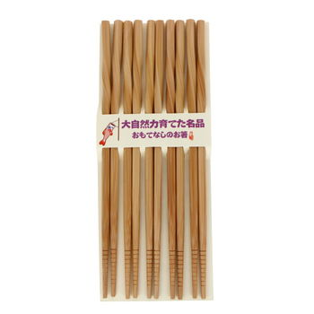 Chopsticks wooden color 5 pairs