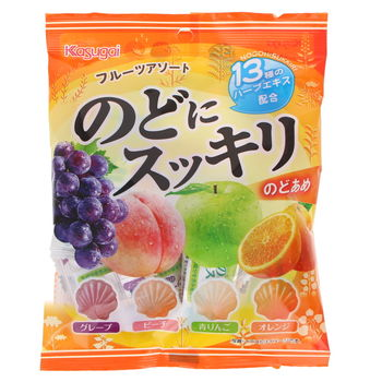 Japanese hard fruits candies - 4 flavors 74g