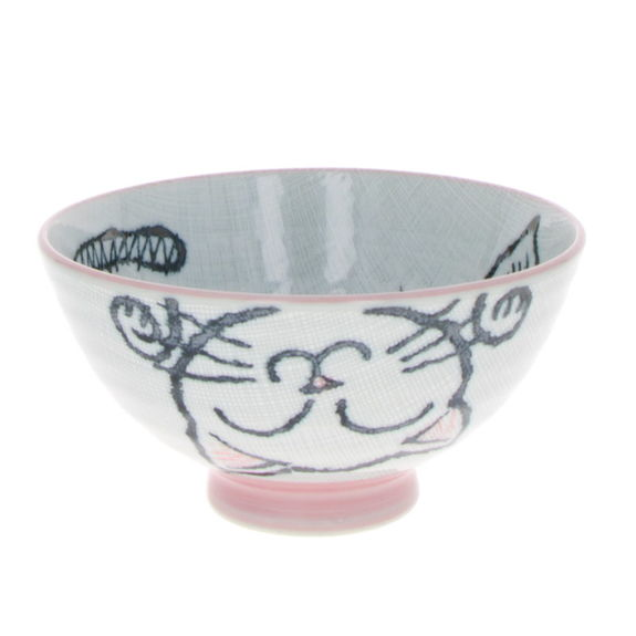 "Bowl for rice ""Pink Cat"""