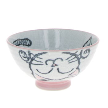 """Bowl for rice """"Pink Cat"""""""
