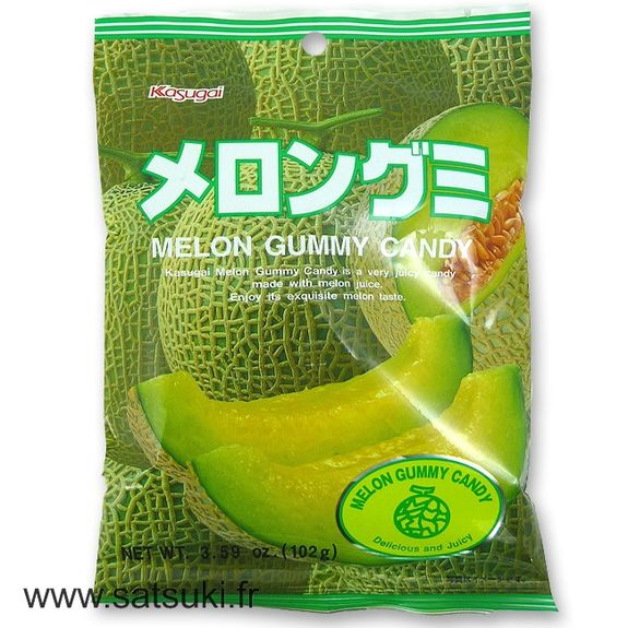 Melon gummy candies 102g Kasugai