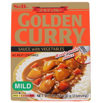 Instant Golden curry with vegetables mild 210g