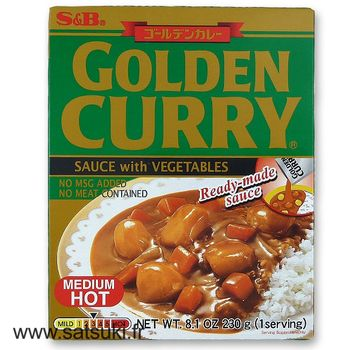 Instant Golden curry with vegetables medium hot 230g