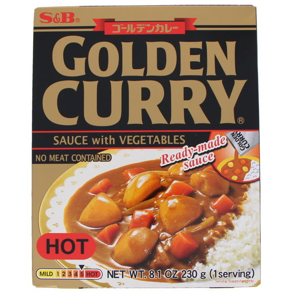 Instant Golden curry with vegetables hot 230g
