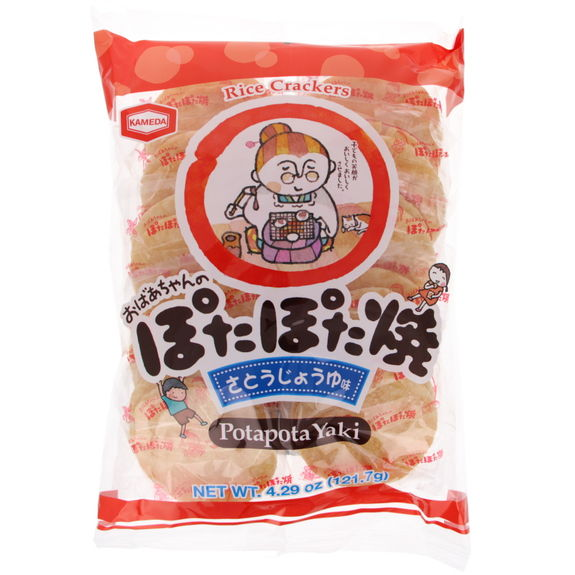 Kameda rice crackers Potapota yaki (22pcs)