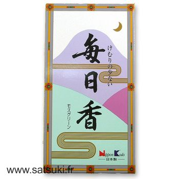 Incense Mainichiko Moss green
