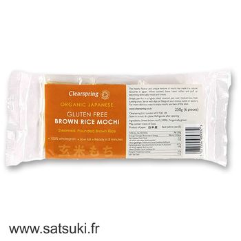 Organic brown rice mochi -  gluten free 250g (6 pieces)
