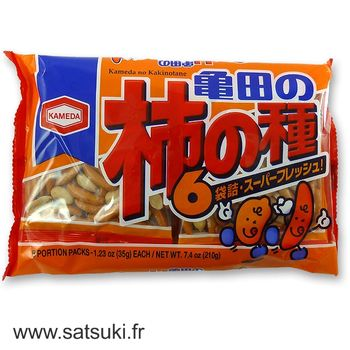 Peanuts & rice crackers 6 sachets 210g
