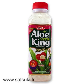 Aloe and litchi drink