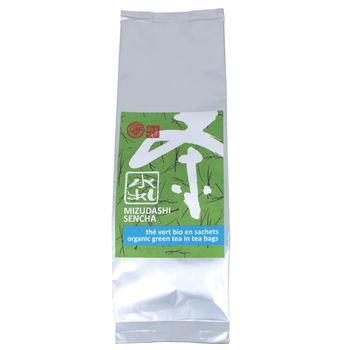 Organic mizudashi green tea for cold brew in teabags 100g