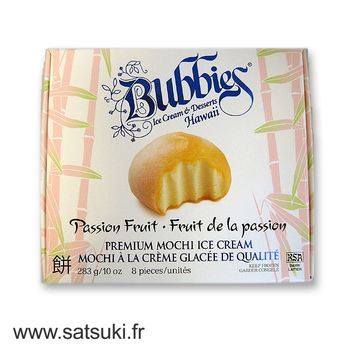 Ice cream mochi Bubbie's passion fruits flavour