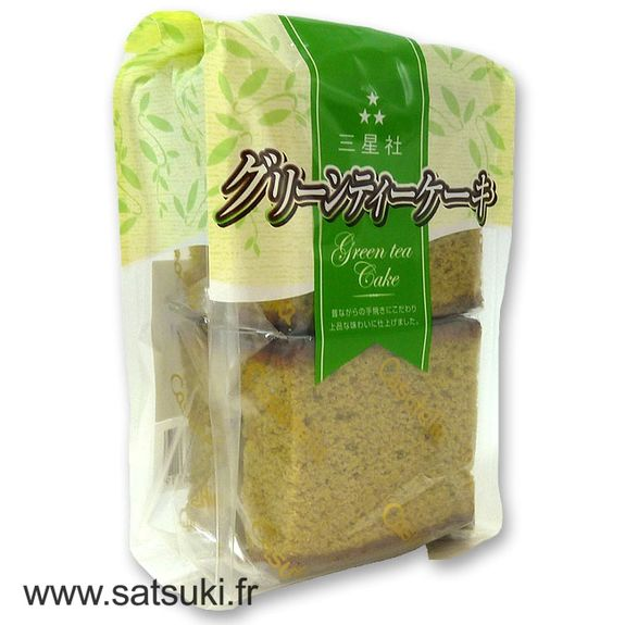 Japanese green tea cake kasutera 4 pcs