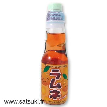 Limonade japonaise Ramune goût orange 200ml