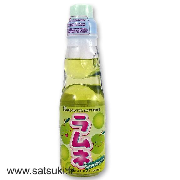 CTC ramune 200ml green apple flavor