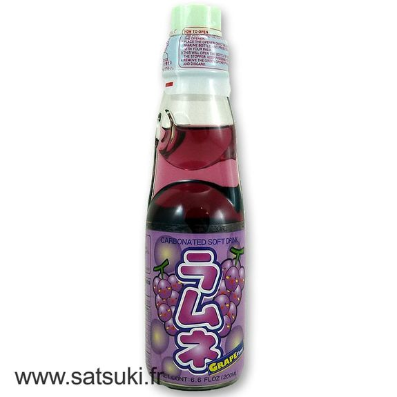 Limonade japonaise Ramune goût raisin 200ml