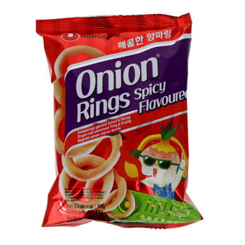 Spicy onion rings 90g