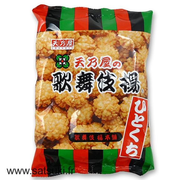 Hitokuchi kabukiage rice crackers 100g