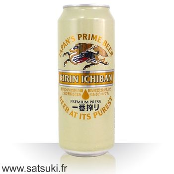 Kirin Ichiban Shibori lager beer 500ml can