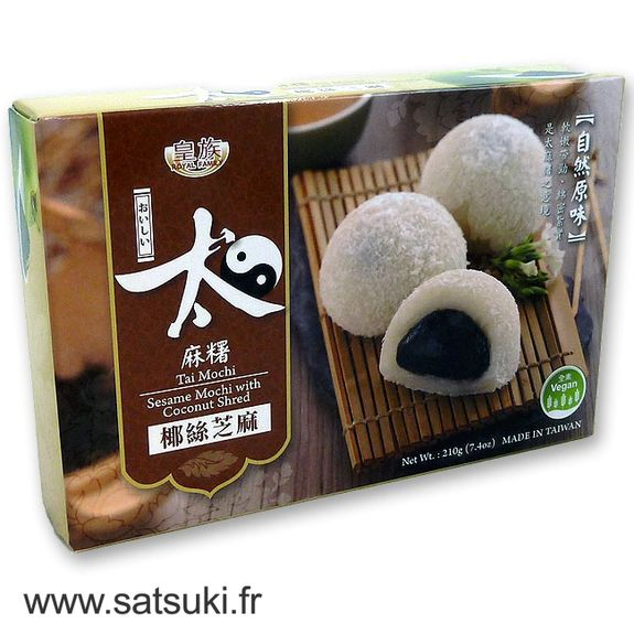 Sesame & coconut mochi 210g 6 servings