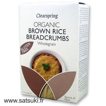 Brown rice breadcrumbs