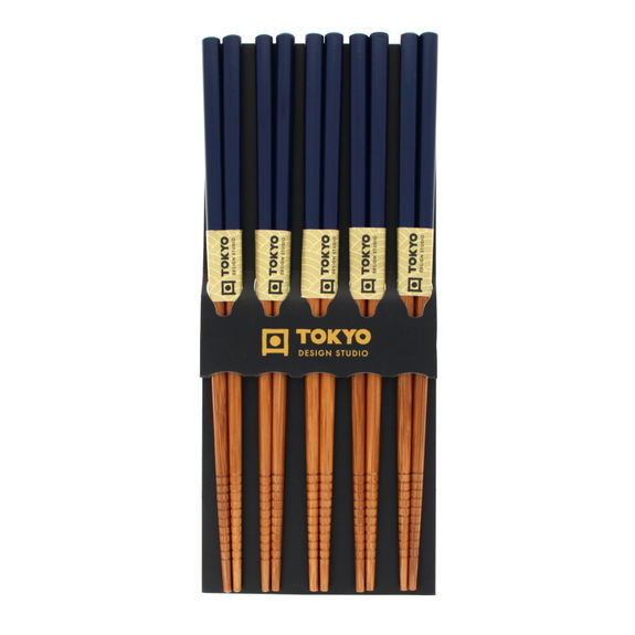 Set of 5 pairs of bamboo chopsticks
