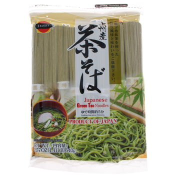 Noodles with green tea chasoba 640g