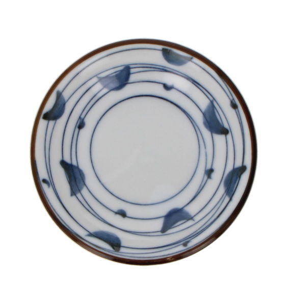 Small round soy saucer cup - Blue lines