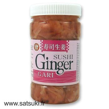 Gingembre rose pour sushi en pot 200g