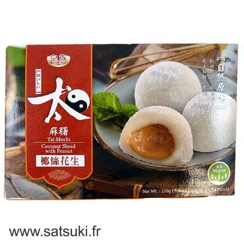 Mochi Peanuts paste with coconut shred 210g