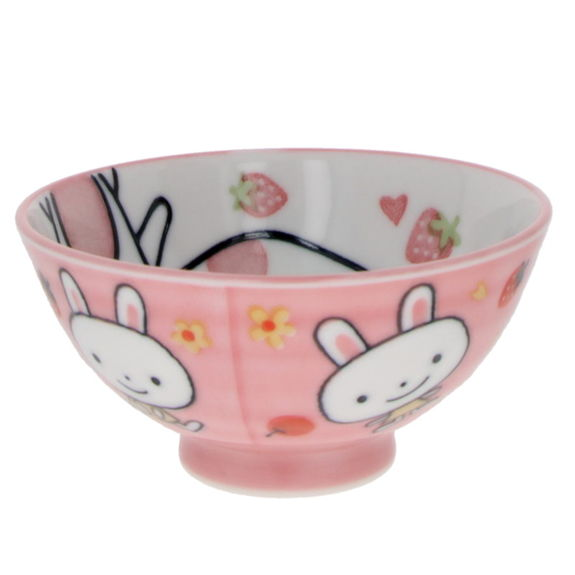 """""""Pink rabbits"""" Rice bowl for child"""