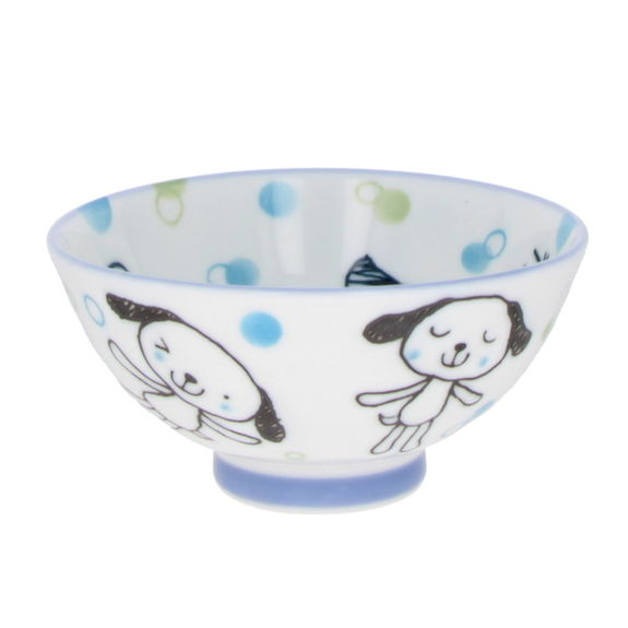 """""""Dogs"""" Rice bowl for child - Blue"""