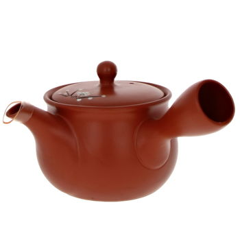 """Red teapot with filter """"Plum flowers"""" 330ml"""