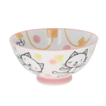 """Cats"" Rice bowl for child - Pink"
